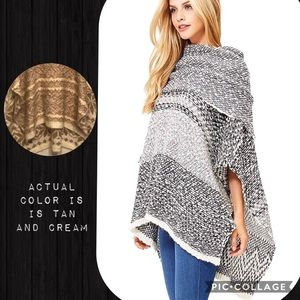 {LOVE-STITCH} knit relax fit poncho. 👜👢